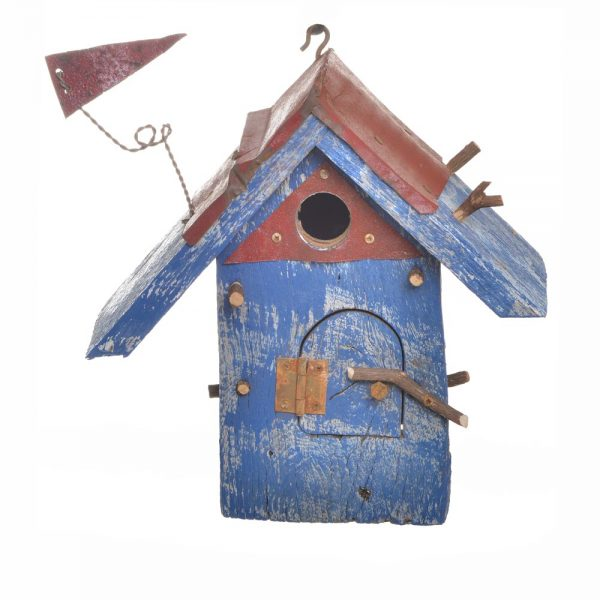 funky birdhouse, recycled wood birdhouse, home and garden