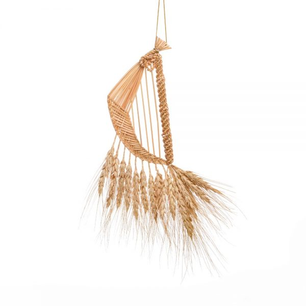 traditional crafts, woven wheat into harp shape symbolizing magic