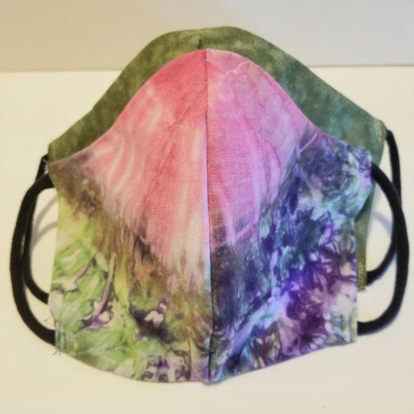 tie dye handmade cotton face mask