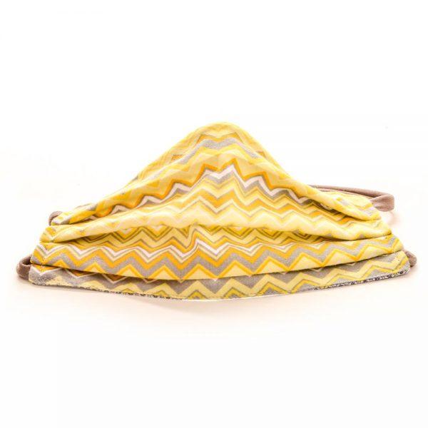 handmade yellow cotton face mask