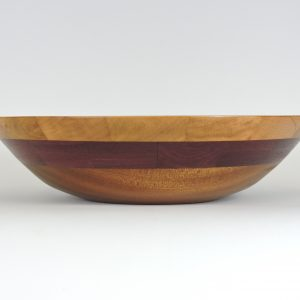 segmented handmade turned bowl