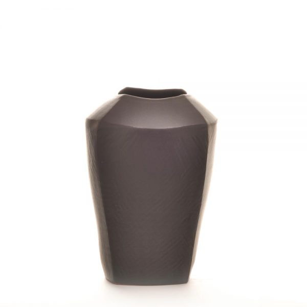 black ceramic vase squared