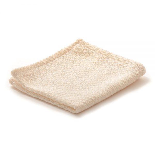 all white cotton dish cloth, handmade cotton dish cloth
