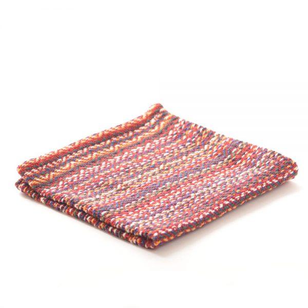 red handmade handwoven cotton dish cloth, mountain kitchen towel