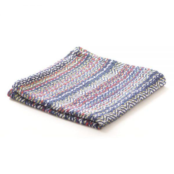 blue handmade cotton dish cloth