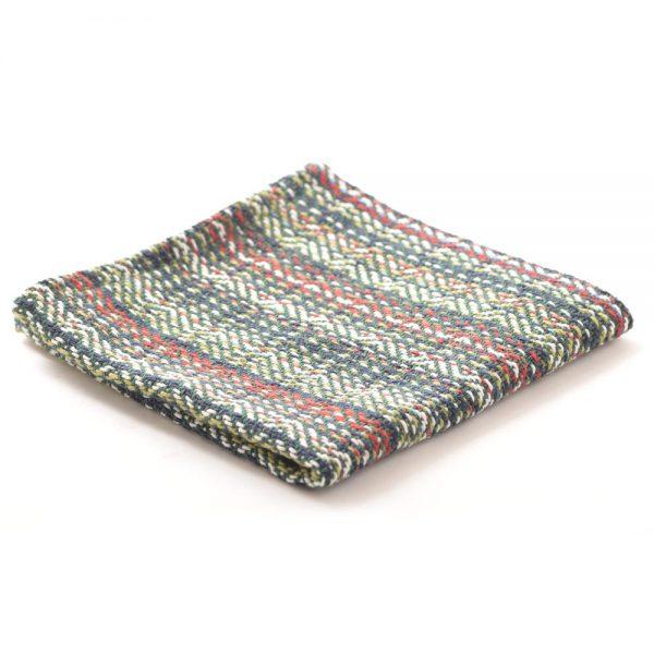 dark green cotton handmade dish cloth, country kitchen towel