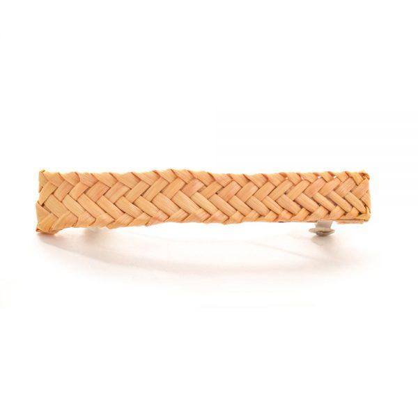 herringbone woven wheat barrette