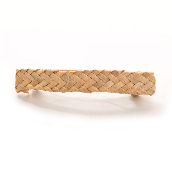 herringbone handmade woven wheat barrette