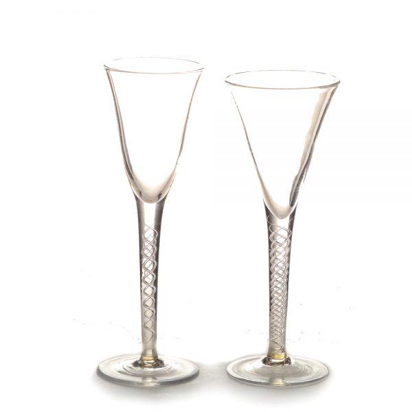 shorter glass handmade glass champagne flutes