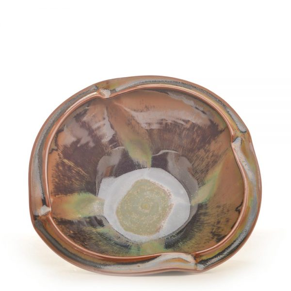 interior view of glazed altered bowl by sarah wells rolland,