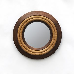 handmade turned wood mirror