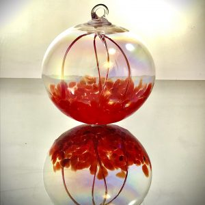 glass witching ball, handmade glass fairy ball