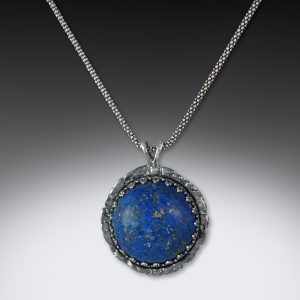 lapis and silver handmade necklace by joe rhodes