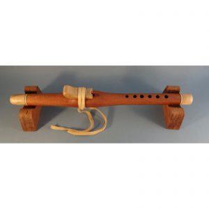 handmade mahogony flute with maple bird, lee entrekin flute maker