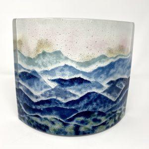 blue ridge mountains glass landscape