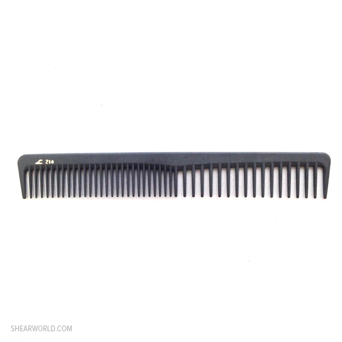 "Leader Carbon Comb - #214 - 7"" Cutting Comb"