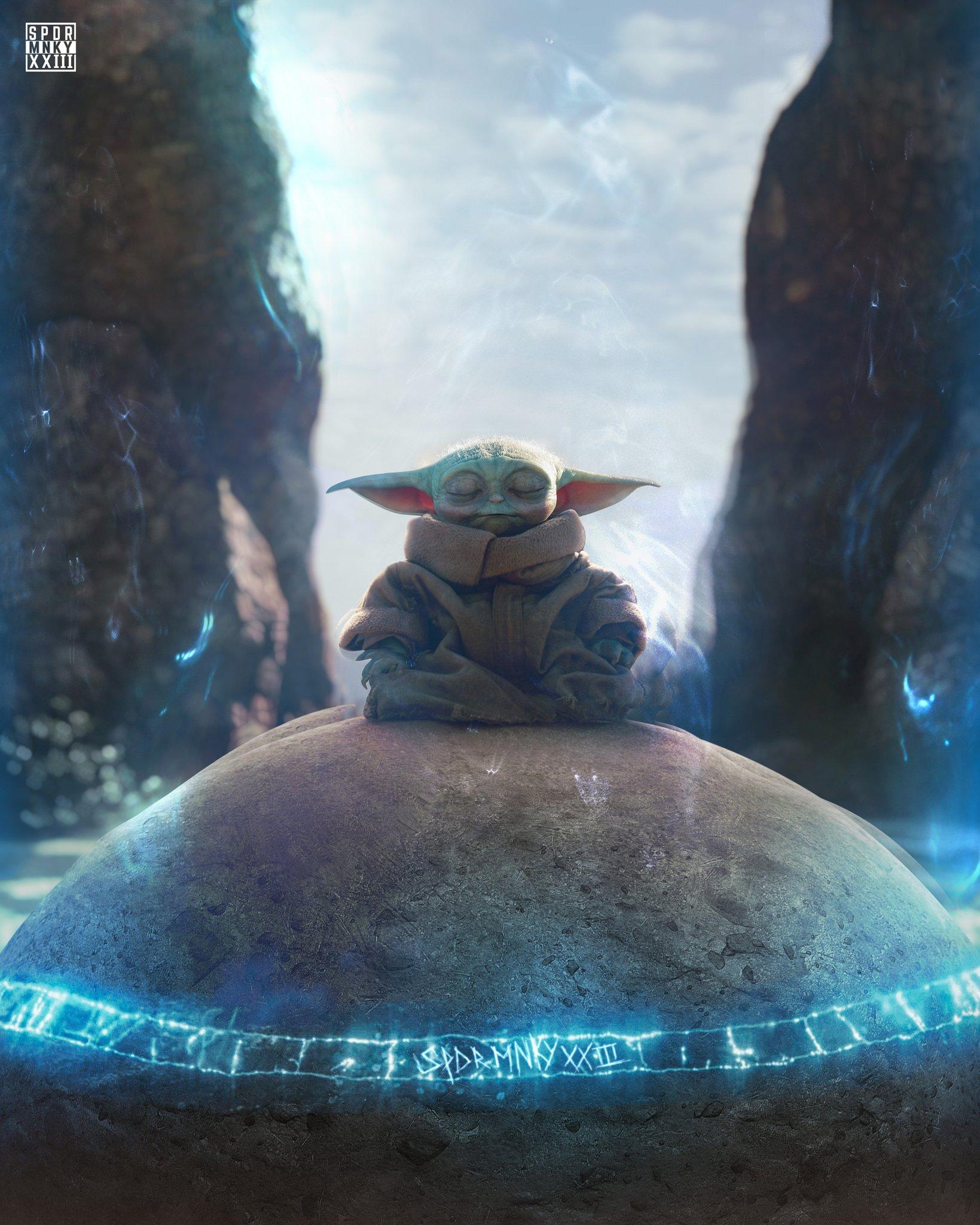 Grogu Using the Force