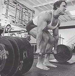 Build Muscle With Arnold Schwarzenegger Lifting Heavy Weights