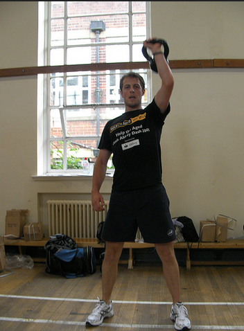 Kettlebells: Clean and Press Exercise