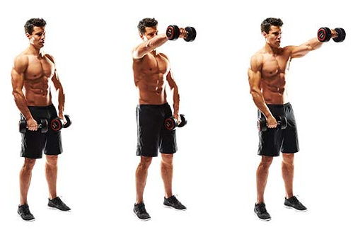 Boulder Shoulders: Front Raise and Upright Rows