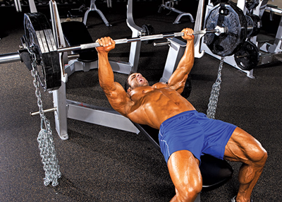 Bench Press Tips, Techniques and Variations: Using Barbell Chains