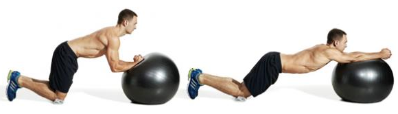 Freshman Training Workout Plan: Swiss Ball Rolls Exercise