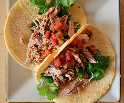 Recipes for Healthy Food With Slow Roasted Carnitas: Pork Tacos