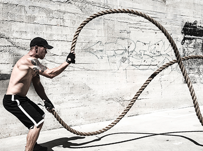 Cardio Exercises to Lose Fats and Build Body: Battle Rope Work
