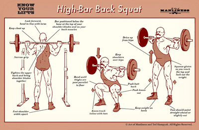 Huge Legs With High-Bar Back Squat