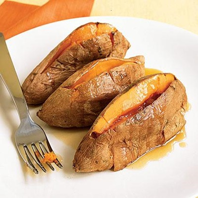 Snacks With Benefits During Pre Workout to Add Body Strength: Sweet Potato With Maple Butter