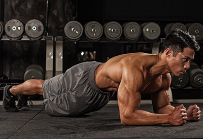 Gains Outside of Gym: Plank Exercise