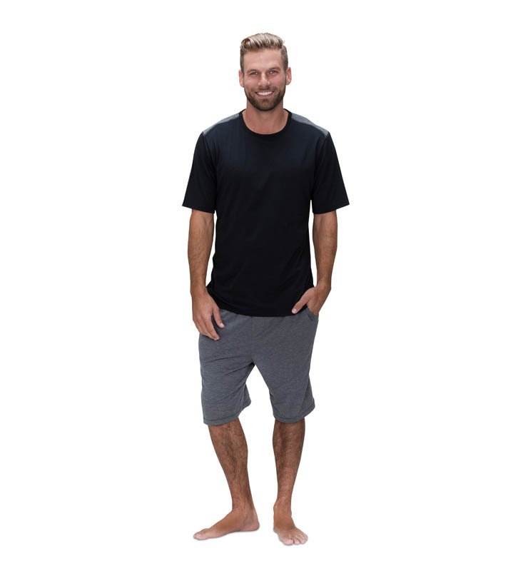 828 mens shortsleeve crew black front