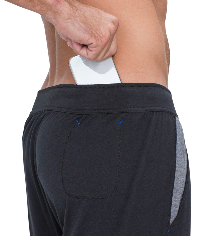 828 men pant black back detail
