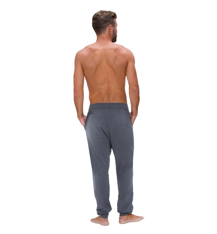 828 men jogger heather grey back