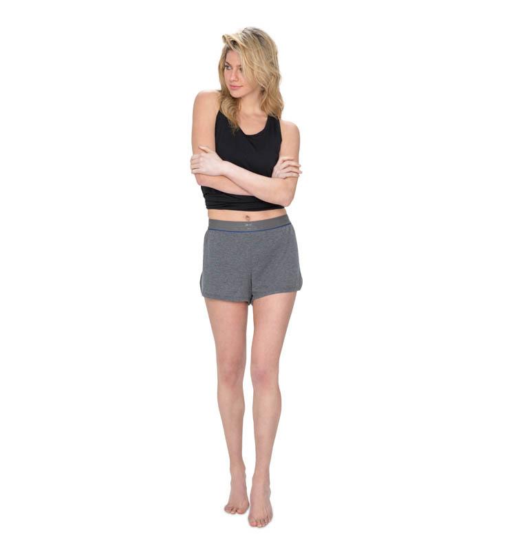 828 women sleepshort heathergrey front
