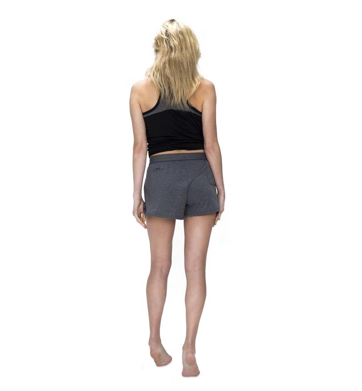 828 women sleepshort heathergrey back