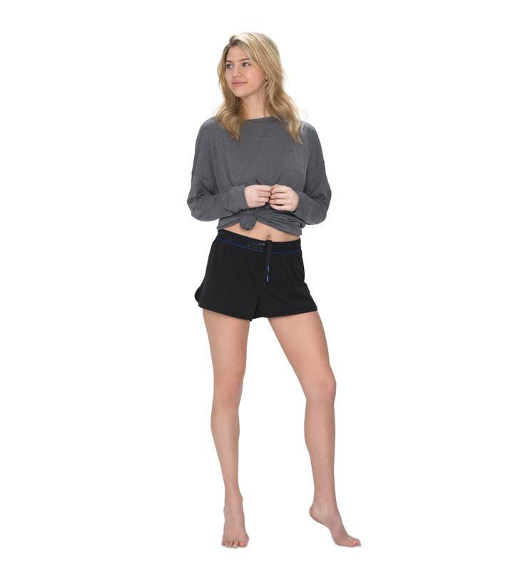 828 women sleepshort black front