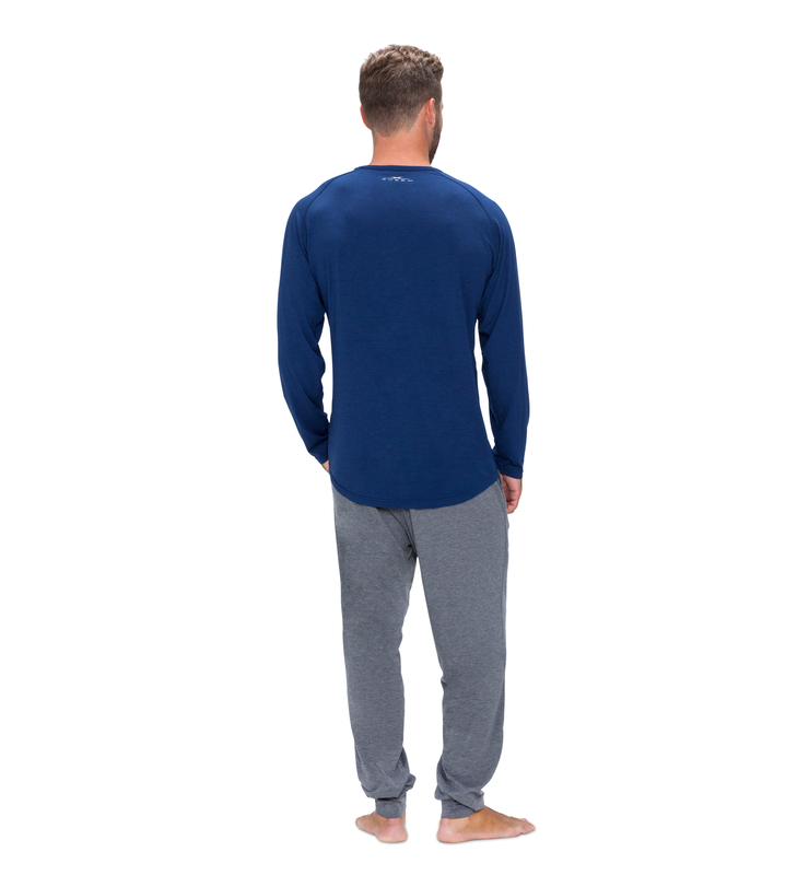 828 men longsleeve cobalt blue back