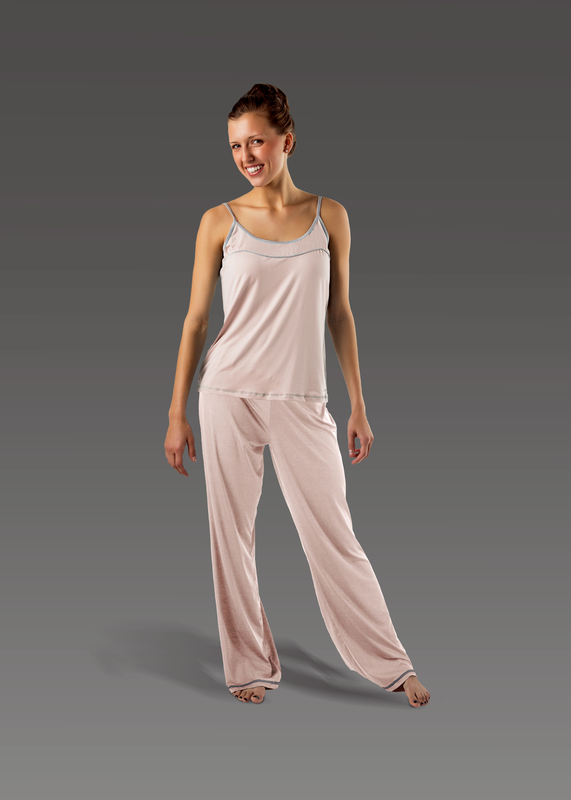 Sleepwear product w flarepant pink front