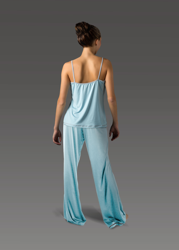 Sleepwear product w flarepant blue back