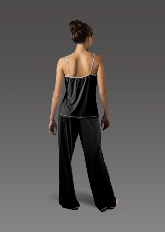 Sleepwear product w flarepant black back