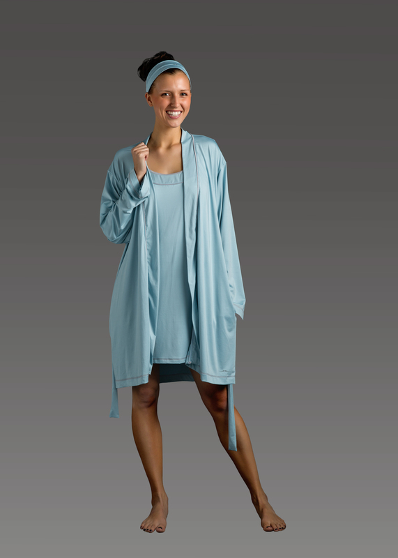 Sleepwear product w robe blue front