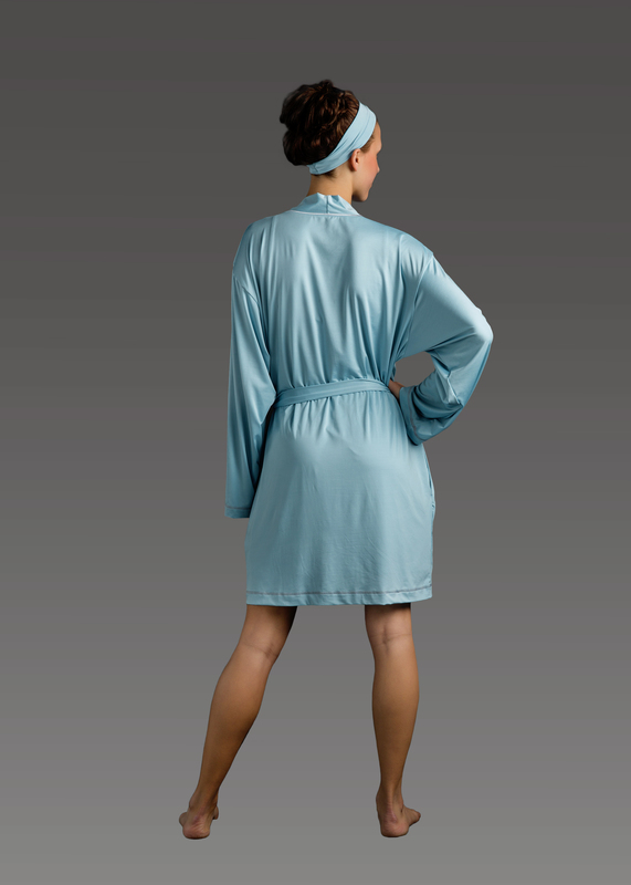 Sleepwear product w robe blue back