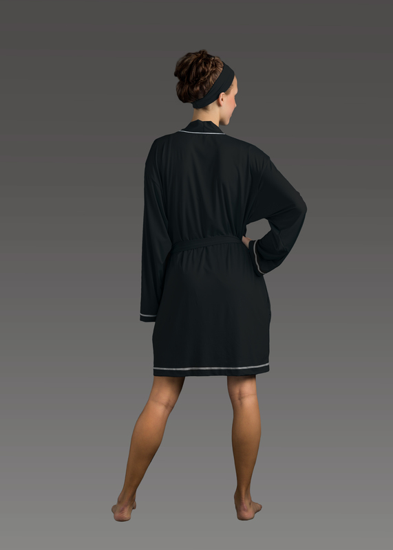Sleepwear product w robe black back