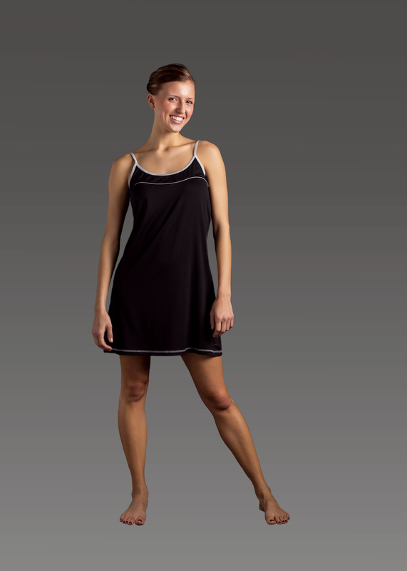 Sleepwear product w chemise black front