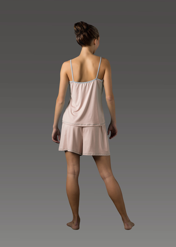 Sleepwear product w camitop pink back