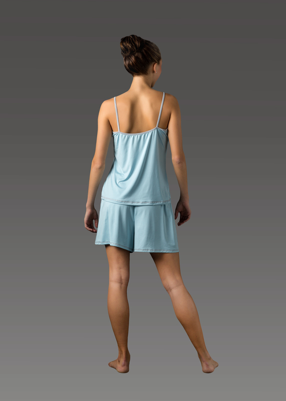 Sleepwear product w camitop blue back