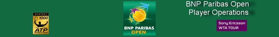 BNP Paribas Open Player Operations