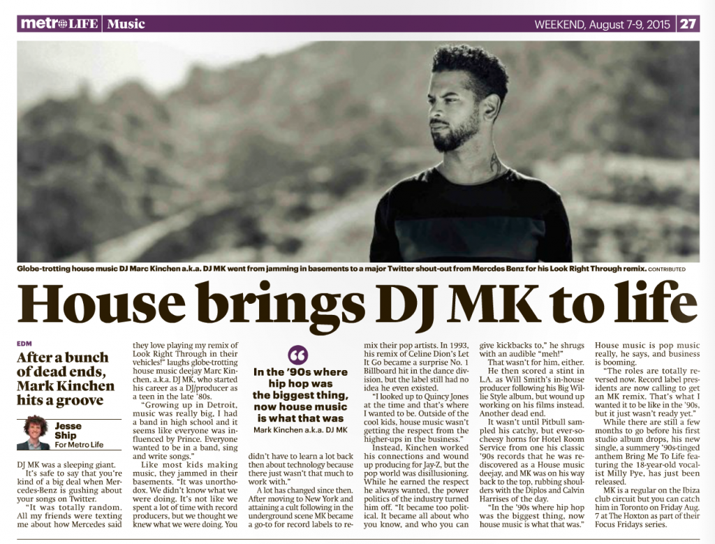 DJ MK - The Metro - Toronto - Jesse Ship
