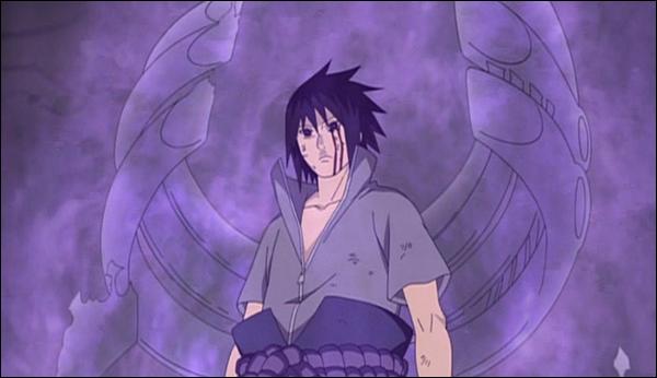 Sasuke proti 5 Kage